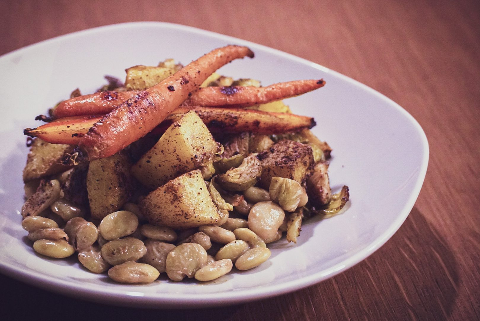 Salade Tiède aux Haricots de Lima et à la Courge