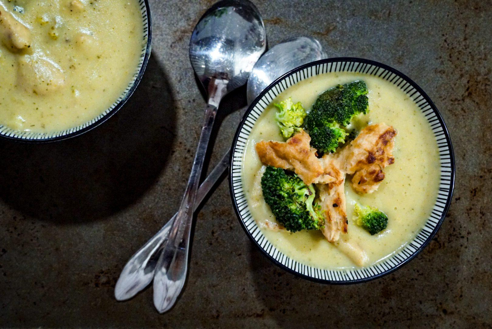 Crème de «poulet» et brocoli végane