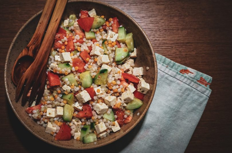 Salade grecque au couscous perlé