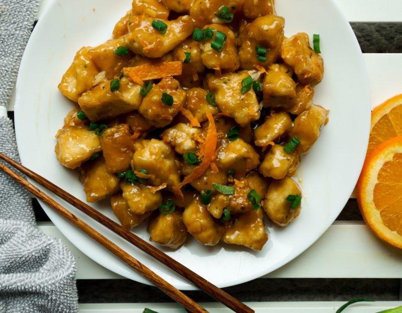 Tofu à l'orange et gingembre