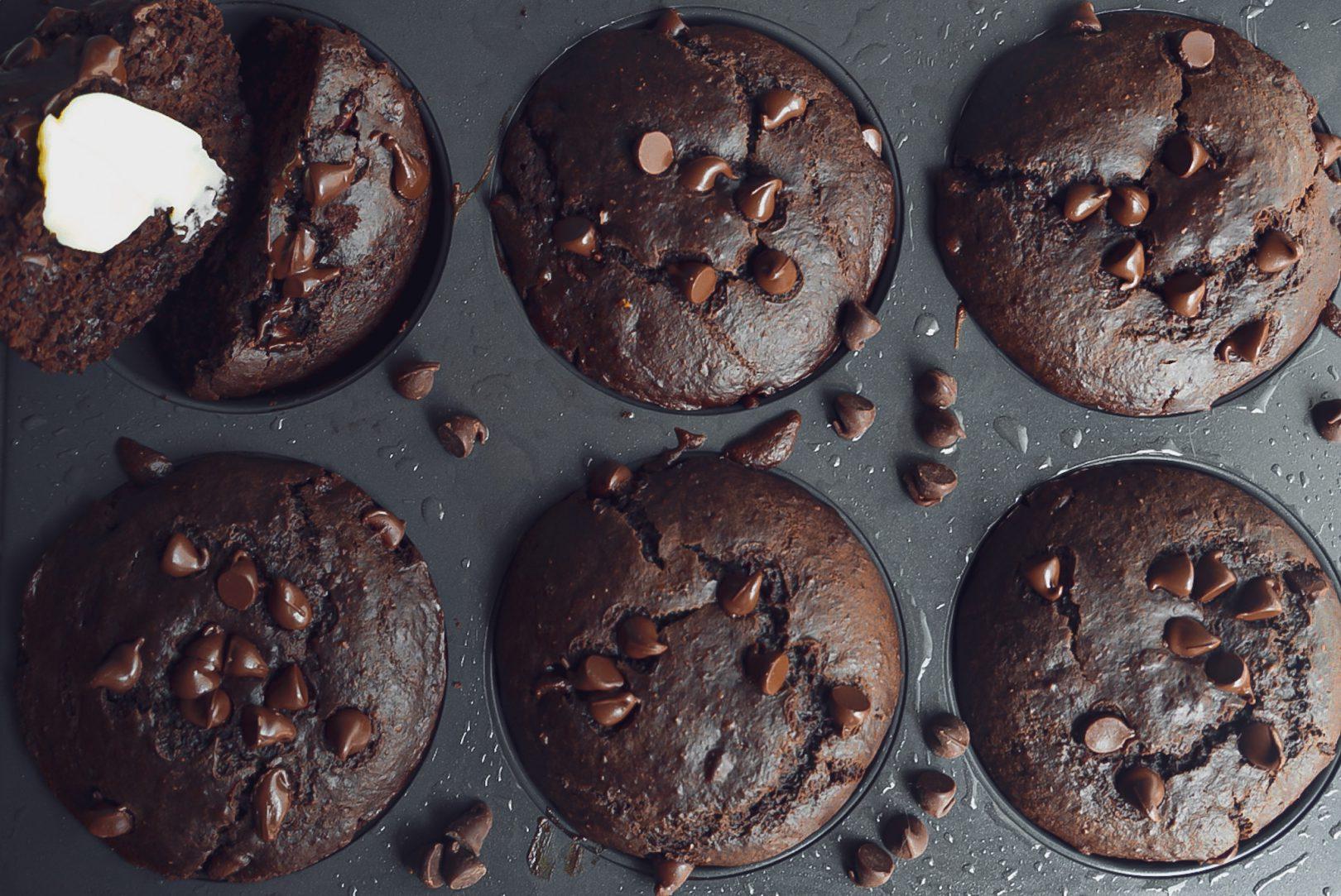 Muffins jumbo double chocolat