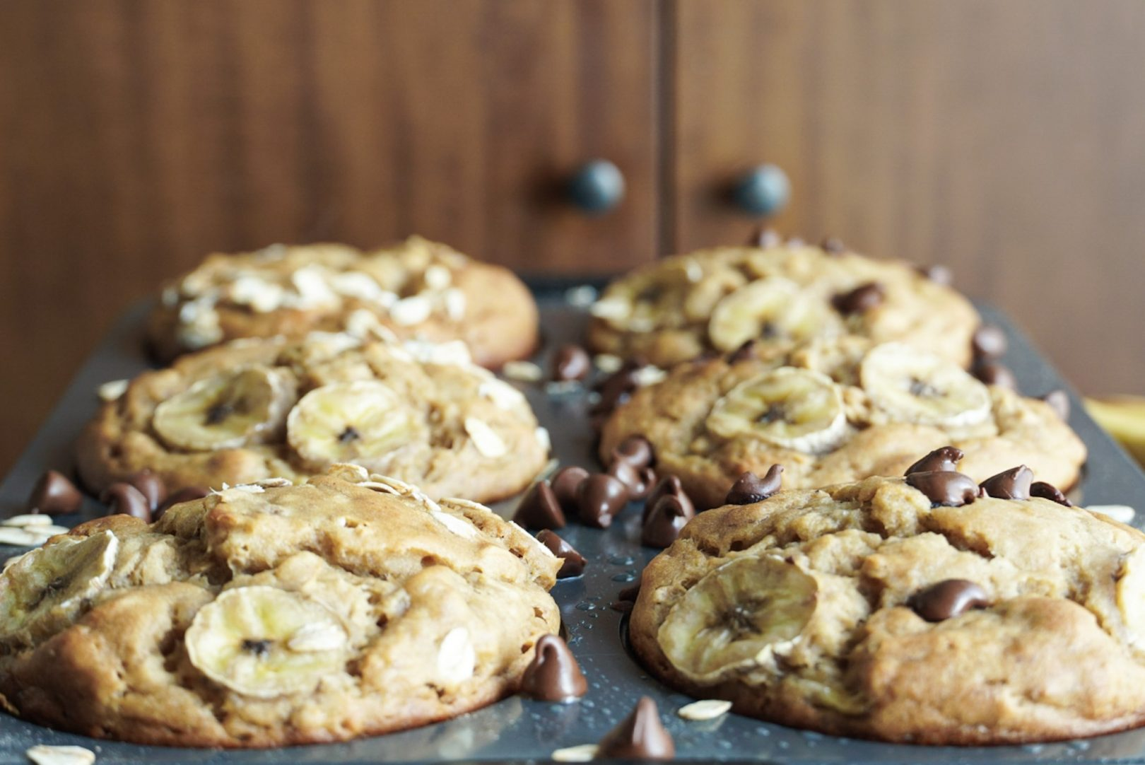Muffins jumbo bananes et érable