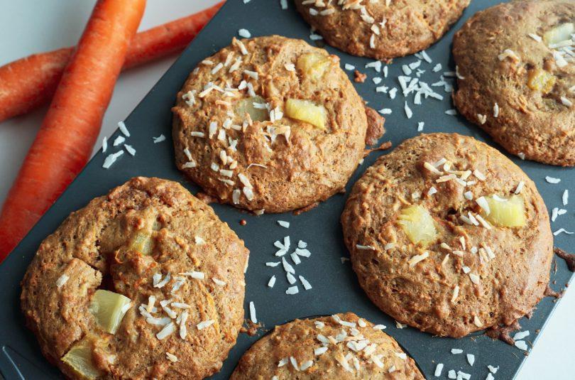 Muffins jumbo aux carottes (avec ananas et noix de coco)